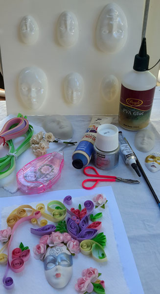 quilling-and-mask-materials