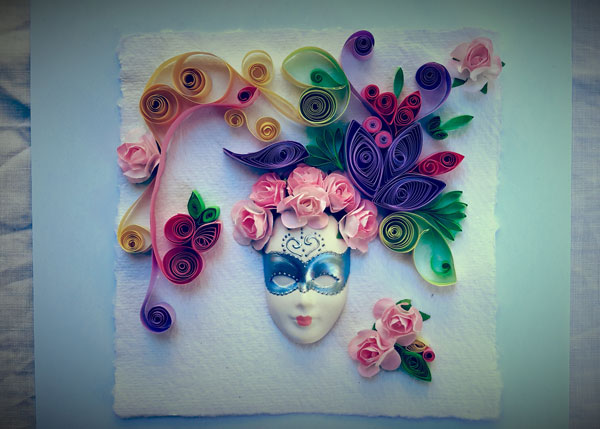 quilling-and-mask-vintage