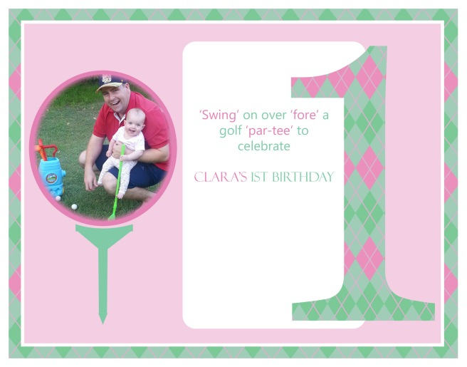 Clara's 1st Birthday Invitations Blog