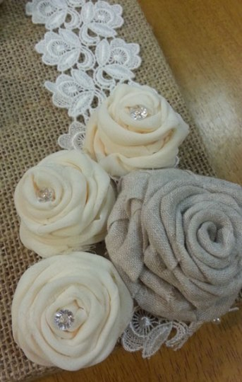fabric roses detail