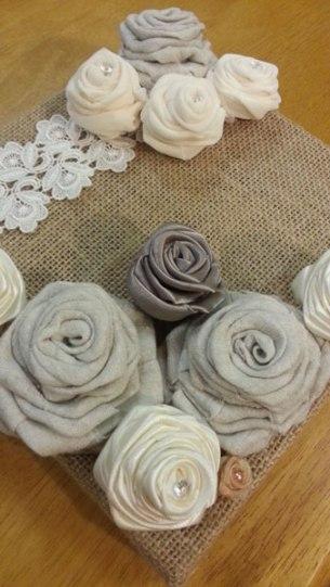 fabric roses detail